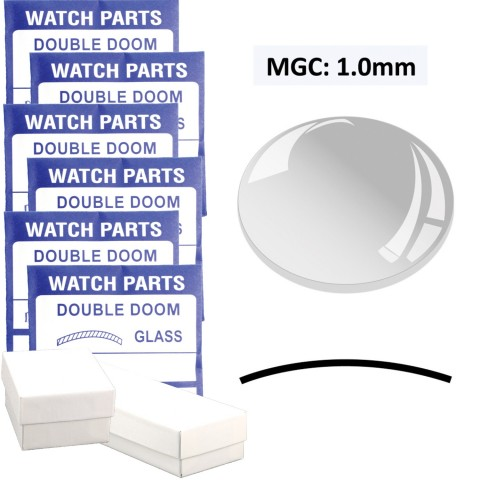 MGC: 1.0mm Thick  Double Dome Glass Crystal, (17.0~40.0mm) Set of 47 PCs.