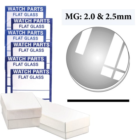 MG-MX70: 2.0MM & 2.5MM Thick Crystal Assortment (28.0~45.0mmby 0.5mm) Total of 70 PCs.