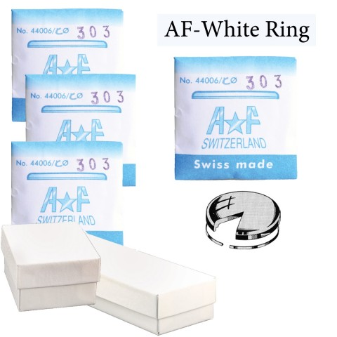 AF-ET White Tension Ring Crystals Assortment (18.0~33.0mm by 0.5mm Increments) Total 31 PCs.