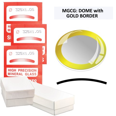MGCG: Dome w/Gold Ring Crystals, (20.0~34.0mm) Set of 21 PCs.