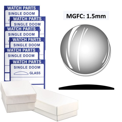 MGFC: 1.5mm Dome Flatback Crystal (35.5~50.0mm) Extra Large Size, Set of 30 PCs.