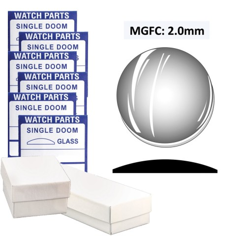 MGFC: 2.0mm Dome Flatback Crystal (35.5~50.0mm) Extra Large Size, Set of 30 PCs.