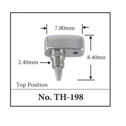 Generic Pusher for TAG. 7.80mm x 8.40mm x 2.40mm