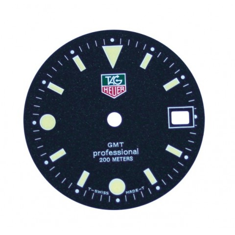 Generic TAG Dial with date window, Dia. 27.95mm, Fits ETA-955.112