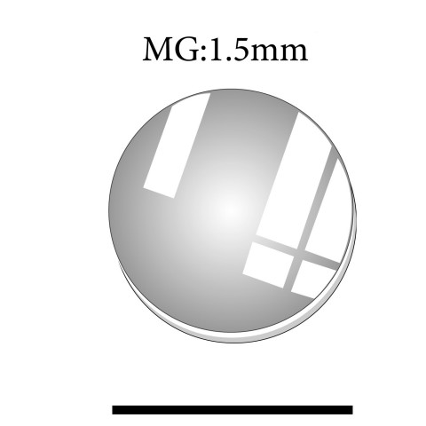 MG: 1.5mm Thickness Round Flat Mineral Glass Crystals