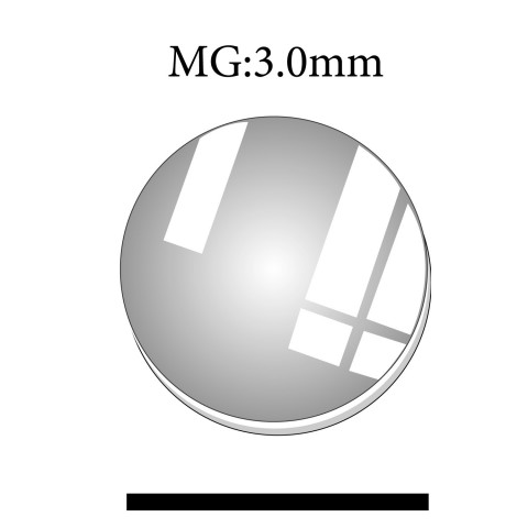 MG: 3.0mm Thickness Round Flat Mineral Glass Crystals