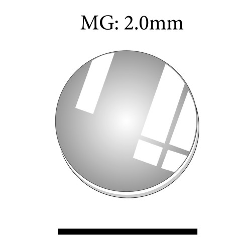 MG: 2.0mm Thickness Round Flat Mineral Glass Crystals