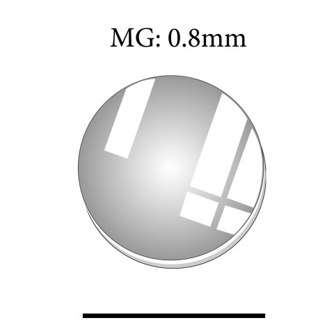 MG: 0.8mm Round Flat Mineral Glass Crystal