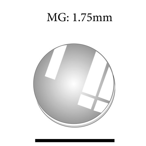 MG: 1.75mm Round Flat Mineral Glass Crystal