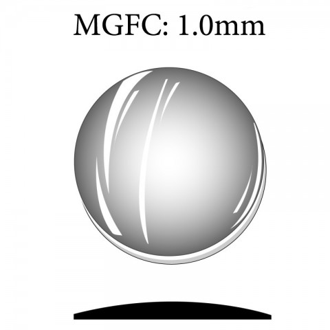 MGFC: 1.0mm Round Flat Back Magnifying Mineral Glass Crystal