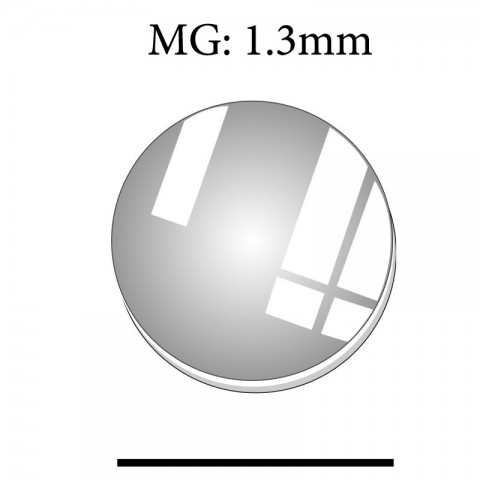 MG: 1.3mm Round Flat Mineral Glass Crystal