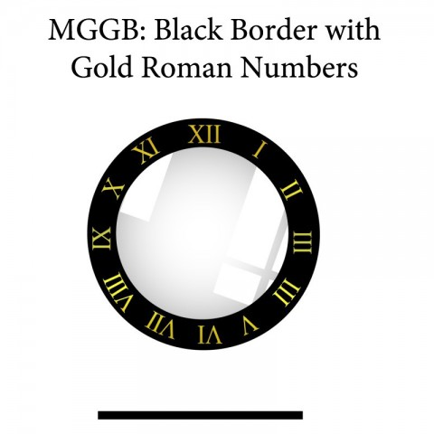 MGGB: Black Border with Gold Roman Numbers